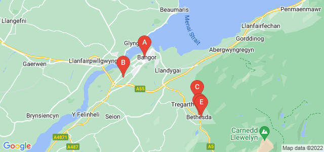 Google static map for Bangor