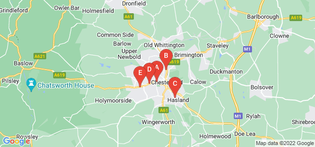 Google static map for Chesterfield