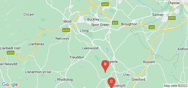 Google static map for Clwyd
