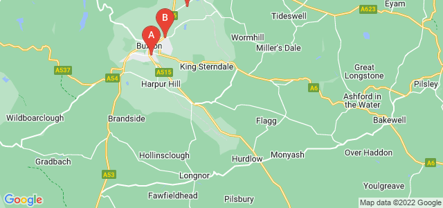 Google static map for Buxton