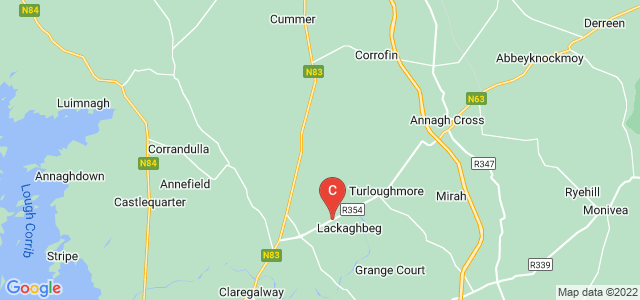 Google static map for Galway