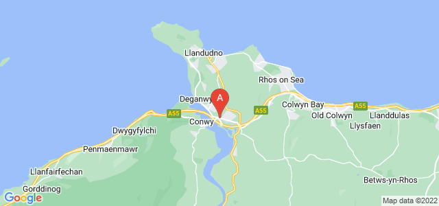 Google static map for Llandudno Junction