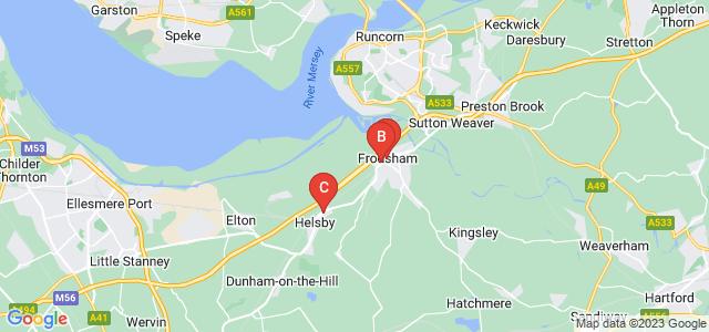 Google static map for Frodsham