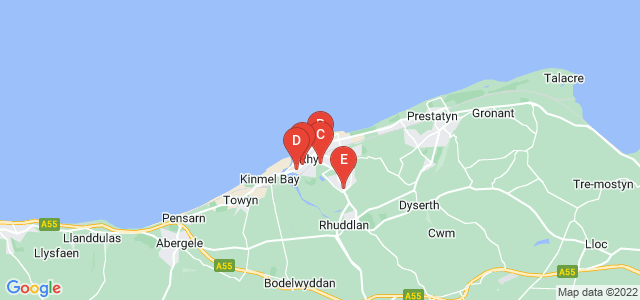 Google static map for Rhyl