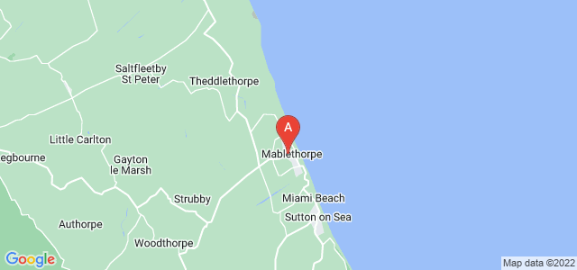 Google static map for Mablethorpe