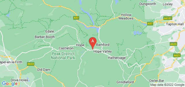 Google static map for Hope Valley