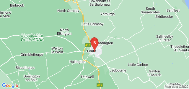 Google static map for Louth