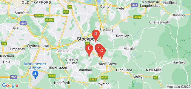 Google static map for Stockport