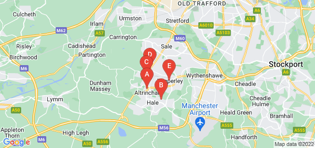 Google static map for Altrincham