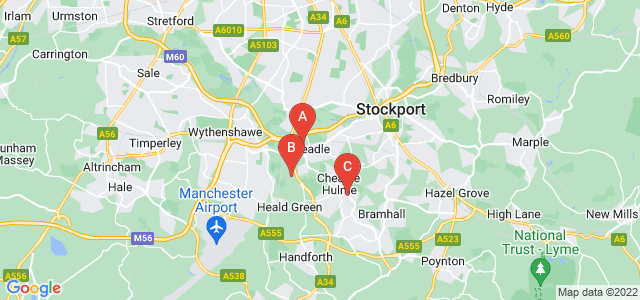 Google static map for Cheadle