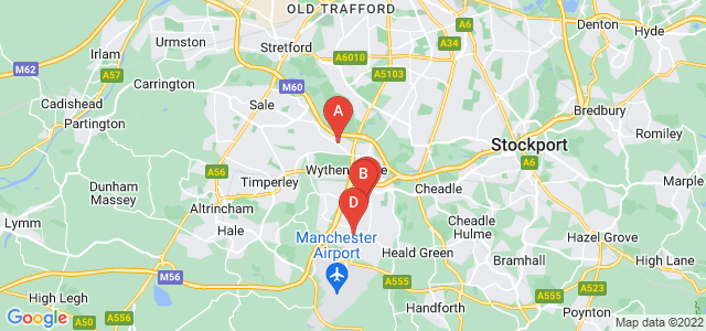 Google static map for Wythenshawe