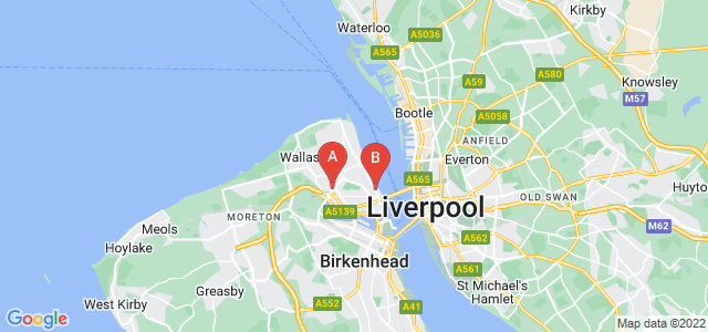 Google static map for Wallasey