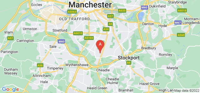 Google static map for Didsbury