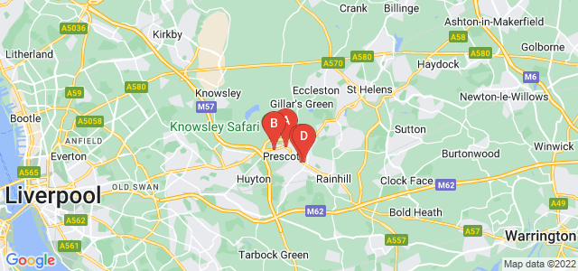 Google static map for Prescot
