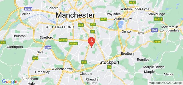 Google static map for Burnage