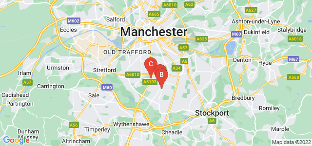 Google static map for Withington