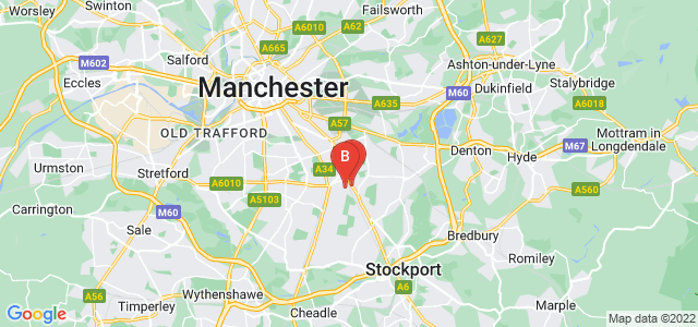 Google static map for Levenshulme