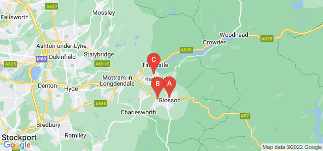 Google static map for Glossop