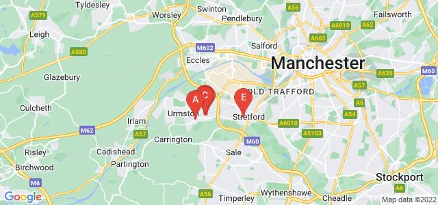 Google static map for Urmston