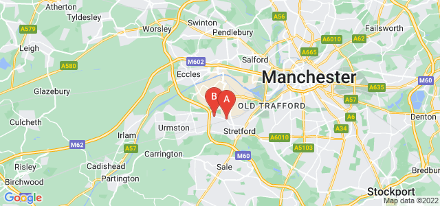 Google static map for Stretford
