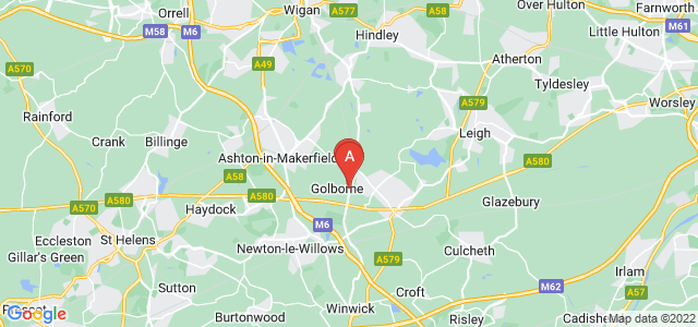 Google static map for Warrington