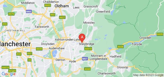 Google static map for Stalybridge