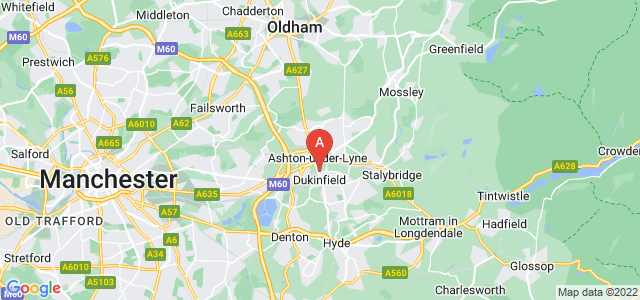 Google static map for Dukinfield