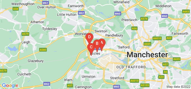 Google static map for Eccles