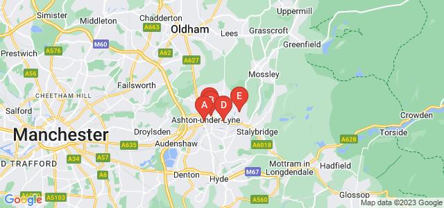 Google static map for Ashton Under Lyne