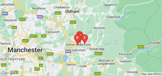 Google static map for Ashton Under Lyne