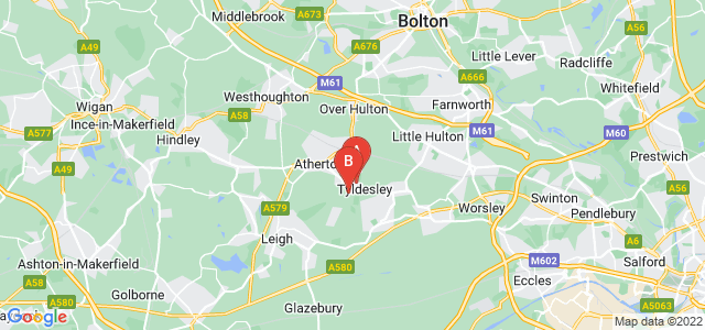 Google static map for Tyldesley
