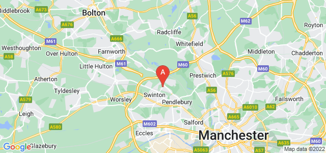 Google static map for Pendlebury