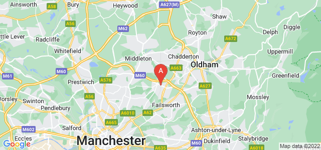 Google static map for New Moston
