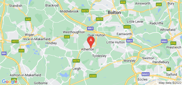 Google static map for Atherton