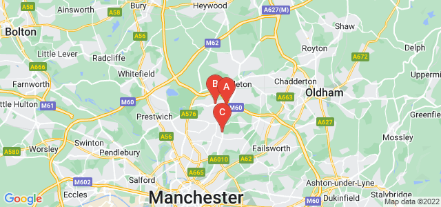 Google static map for Blackley