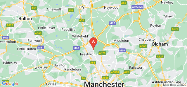 Google static map for Prestwich