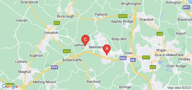 Google static map for Skelmersdale