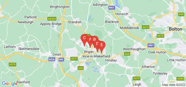 Google static map for Wigan