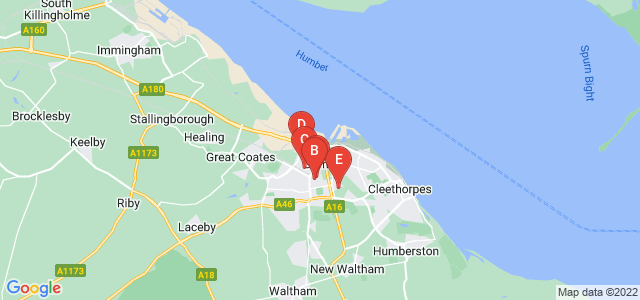 Google static map for Grimsby