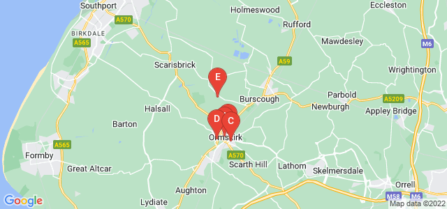 Google static map for Ormskirk