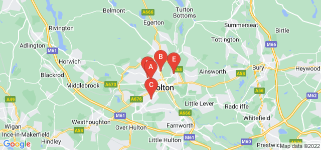Google static map for Bolton