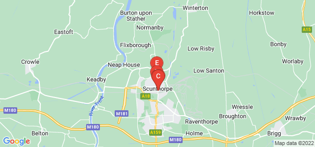 Google static map for Scunthorpe