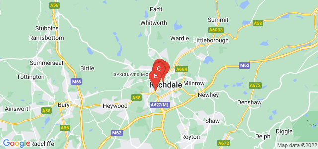 Google static map for Rochdale