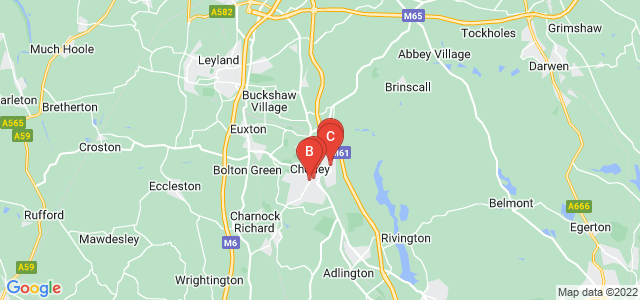 Google static map for Chorley