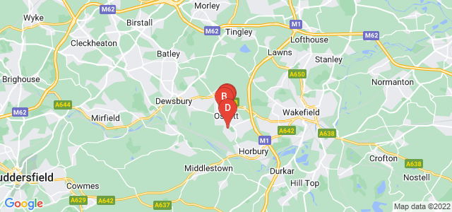 Google static map for Ossett