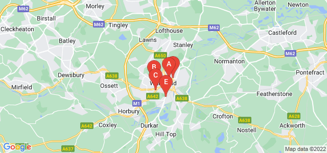 Google static map for Wakefield