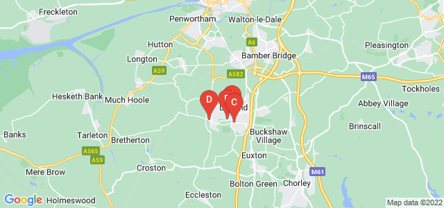 Google static map for Leyland