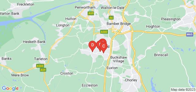 Google static map for Leyland
