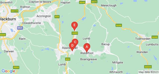 Google static map for Rossendale