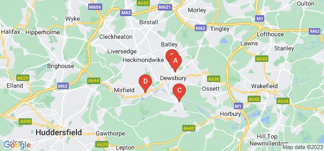 Google static map for Dewsbury